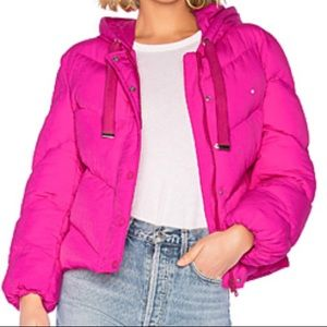 Hooded Puffer Jacket pink!!